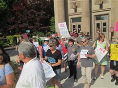 Catholics rally at the Washington County Court House