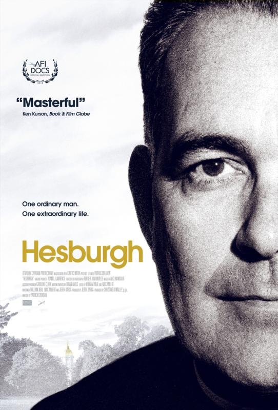 "This is a promotional poster for the new documentary ""Hesburgh,"" about Holy Cross Father Theodore Hesburgh, the priest who led the University of Notre Dame for 35 years. Director Patrick Creadon and his crew spent two and a half years making ""Hesburgh,"" which opens May 3 in 35 U.S. cities. (CNS photo/courtesy OCP Media)"