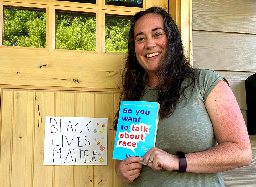 Elizabeth Richard, a member of the new Racial Equity team at Holy Family School in Southeast Portland, is taking activism from the front door to the classroom. (Courtesy Holy Family School)