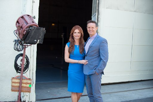 "Producers Roma Downey and Mark Burnett are seen in this undated photo. Their new epic ""Resurrection"" debuts in streaming form March 27, 2021, on the Discovery+ subscription service. (CNS photo/courtesy MGM and LightWorkers)"