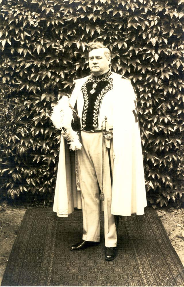 George Hennessey dons regalia of the Knights of the Holy Sepulcher. (Courtesy Mark Bliven)